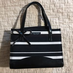 Kate Spade Stripped Purse With Bow Accent